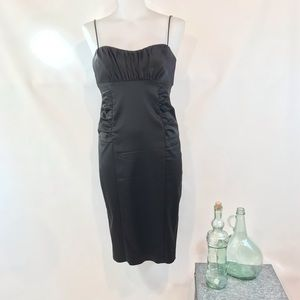 DAVID MEISTER Strappy Wiggle Dress